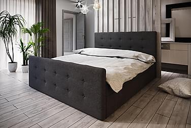 DANNI Sängpaket 160 Knappad Gavel Mörkgrå