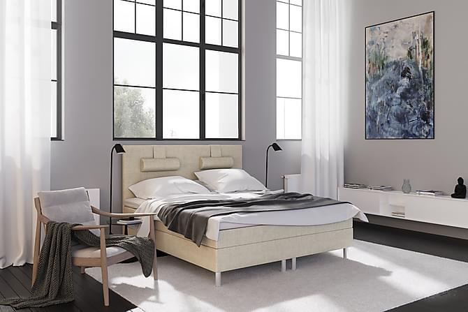 EASTON LYX Kontinentalsäng 160 Beige - Möbler & Inredning - Sängar - Kontinentalsängar