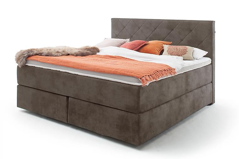 FERIOLO Sängpaket Kontinentalsäng 200x200 cm H2 Mocka/Taupe - Möbler & Inredning - Sängar - Kontinentalsängar