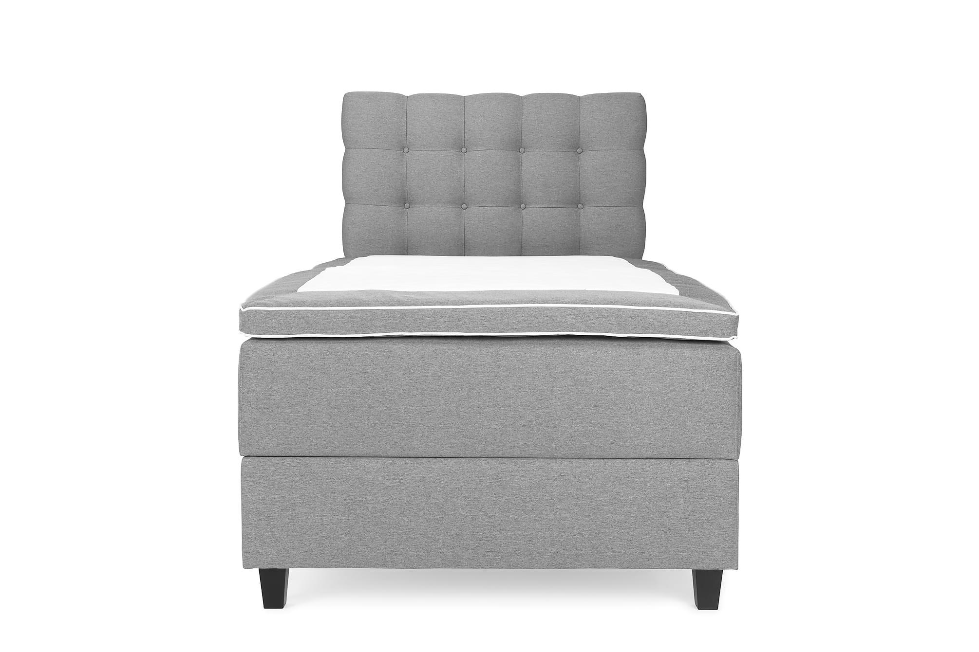 OAKHAM Komplett Sängpaket Säng med Förvaring 105×200 Ljusgrå
