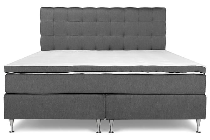 PEARL Lyx Sängpaket Kontinentalsäng 180x200 Grå - Möbler & Inredning - Sängar - Komplett Sängpaket
