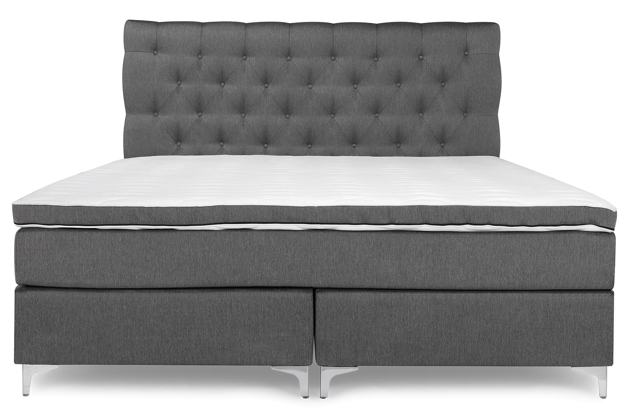 PEARL Lyx Sängpaket Kontinentalsäng 180×200 Grå