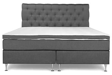 PEARL Lyx Sängpaket Kontinentalsäng 180x200 Grå