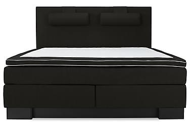 SINNEBO Kontinentalsäng - Sängpaket 160 Svart