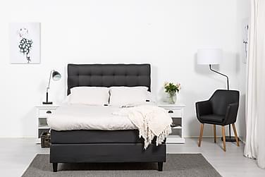 SINNEBO Sängpaket 120 Konstläder Svart/Ljusgrå