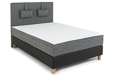SINNEBO Sängpaket120 Svart Ek Fyrkant