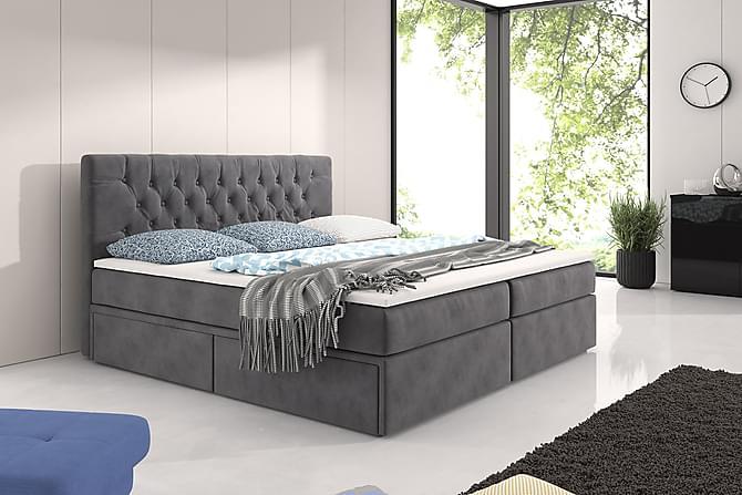 CALABRIA Komplett Förvaringssäng 160 Grå - Möbler & Inredning - Sängar - Komplett Sängpaket