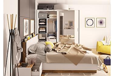 KUNGSHOLMEN Säng 160 med Förvaring Vit/Trä