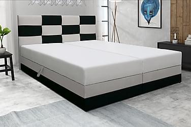 RIVA Sängpaket 160 med Förvaring Svart/Vit