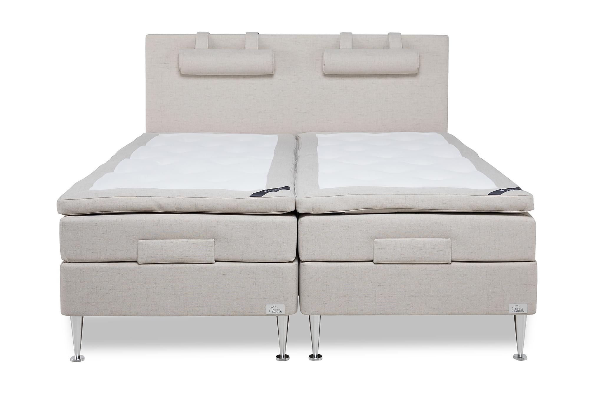 KINNABÄDDEN SAFIR Ställbar Säng 180x200 F Latex 60 mm Gavel, Ställbara sängar