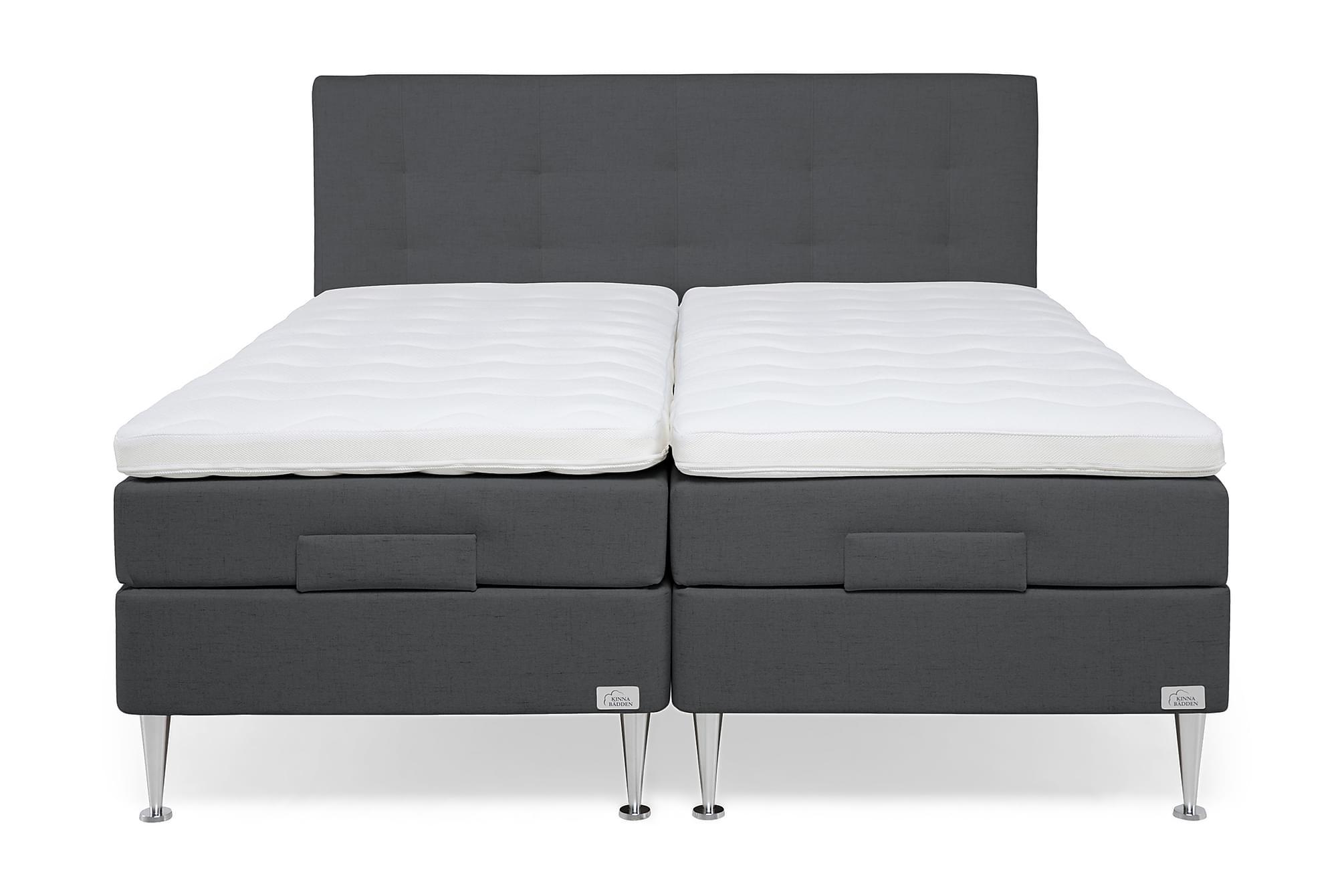 LENOX Ställbar Säng 180 Fast/Fast + Sänggavel Antracit, Ställbara sängar
