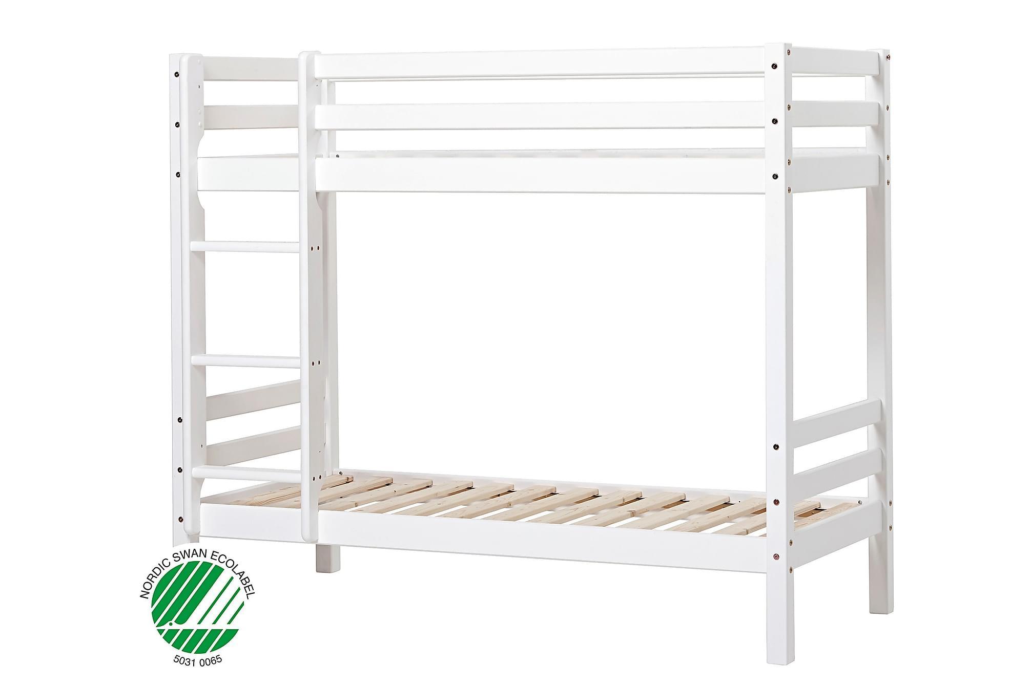 BASIC Våningssäng 70×190 Ej delbar Vit