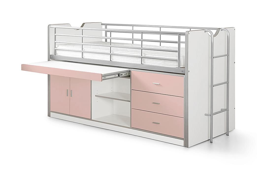 LONDYLL Loftsäng/Skrivbord Ljusrosa - Möbler & Inredning - Sängar - Våningssängar