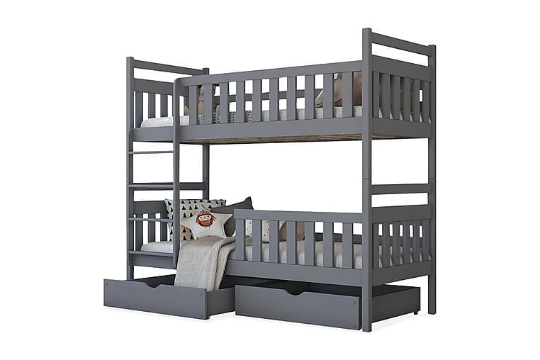 WINDSOR Våningssäng 80x180 cm - Grå - Möbler - Sovrum - Sängar - Våningssängar & loftsängar