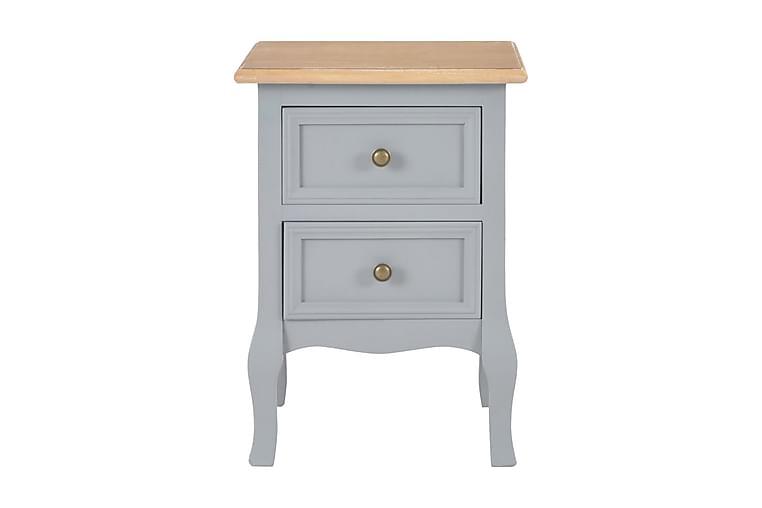 Nattduksbord 2 st grå 35x30x49 cm MDF - Grå - Möbler & Inredning - Bord - Sängbord