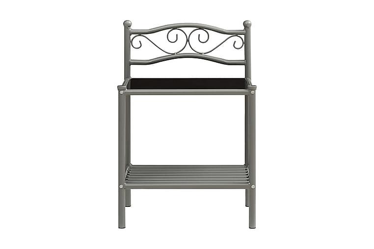 Nattduksbord 2 st grå och svart metall och glas - Möbler & Inredning - Bord - Sängbord