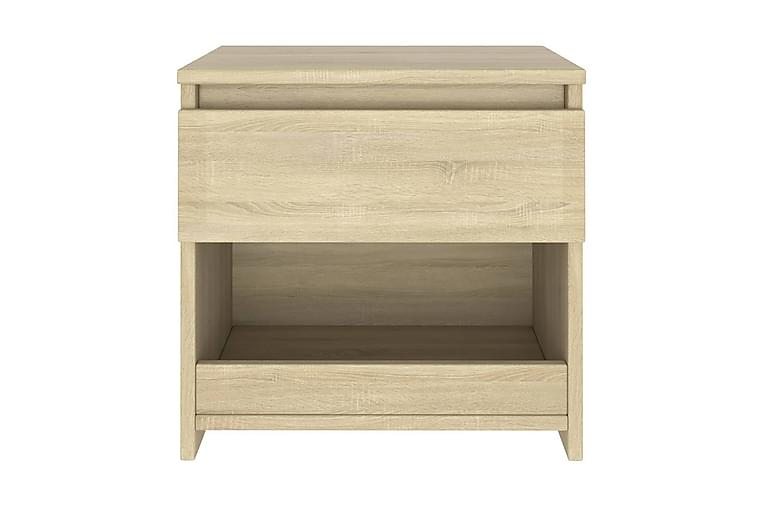 Nattduksbord sonoma-ek 40x30x39 cm spånskiva - Brun - Möbler & Inredning - Bord - Sängbord