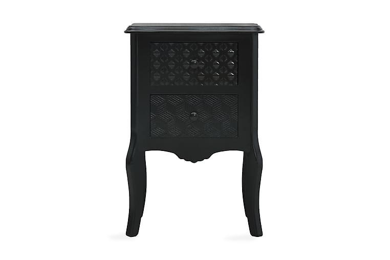 Nattduksbord svart 43x32x65 cm MDF - Svart - Möbler & Inredning - Bord - Sängbord