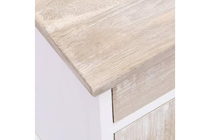 Sängbord 2 st 38x28x45 cm kejsarträ - Vit - Möbler & Inredning - Bord - Sängbord