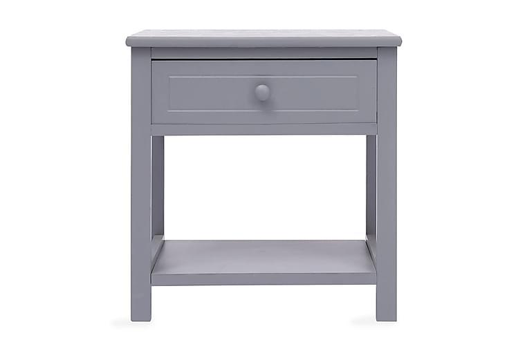 Sängbord 2 st grå 40x29x42 cm paulownia - Grå - Möbler & Inredning - Bord - Sängbord