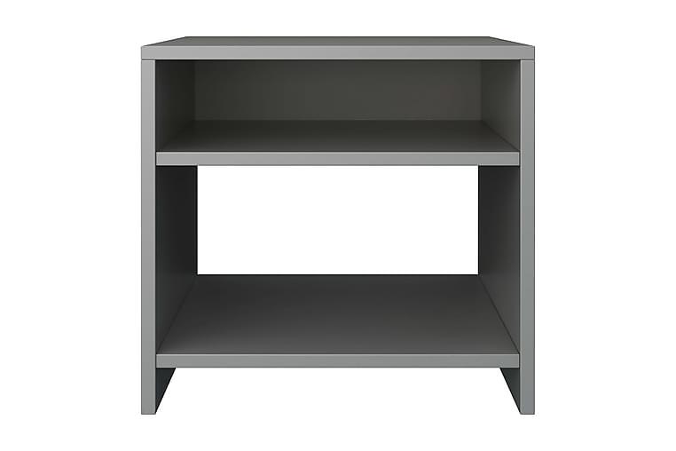 Sängbord 2 st grå 40x30x40 cm spånskiva - Grå - Möbler & Inredning - Bord - Sängbord