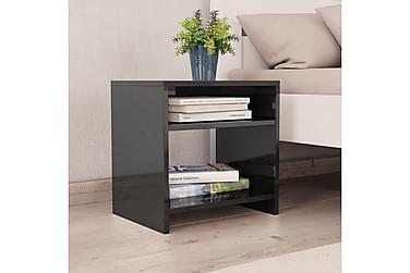 Sängbord 2 st svart högglans 40x30x40 cm spånskiva