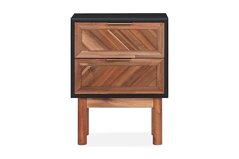 Sängbord 40x30x53 cm massivt akaciaträ och MDF - Brun - Möbler & Inredning - Bord - Sängbord