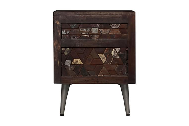 Sängbord massivt återvunnet trä 40x30x50 cm - Brun - Möbler & Inredning - Bord - Sängbord