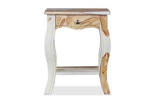 Sängbord massivt sheeshamträ 40x30x50 cm, Sängbord