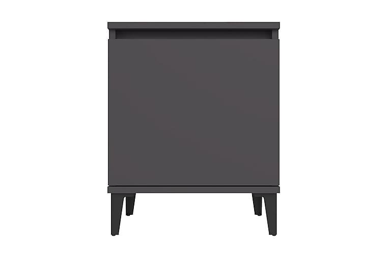 Sängbord med metallben grå 40x30x50 cm - Grå - Möbler & Inredning - Bord - Sängbord