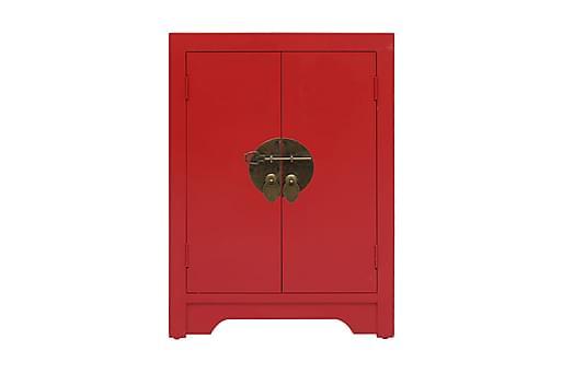 Sängbord röd 38x28x52 cm kejsarträ, Sängbord