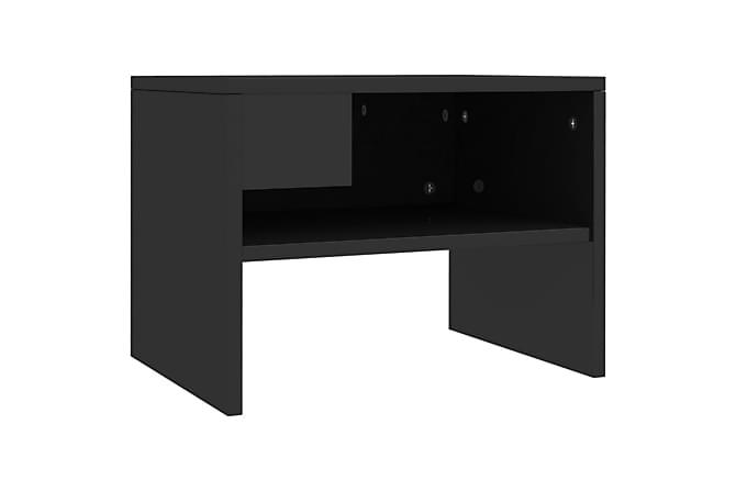 Sängbord svart högglans 40x30x30 cm spånskiva - Svart - Möbler & Inredning - Bord - Sängbord