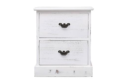 Sängbord vit 38x28x45 cm kejsarträ, Sängbord