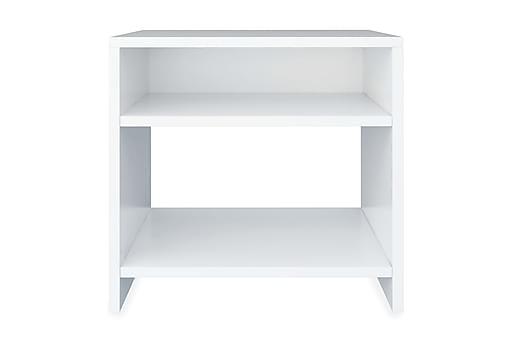 Sängbord vit 40x30x40 cm spånskiva, Sängbord