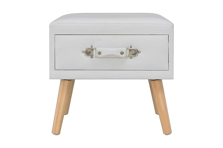 Sängbord vit 40x35x40 cm konstläder - Vit - Möbler & Inredning - Bord - Sängbord