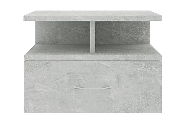Svävande sängbord 2 st betonggrå 40x31x27 cm spånskiva - Grå - Möbler & Inredning - Bord - Sängbord