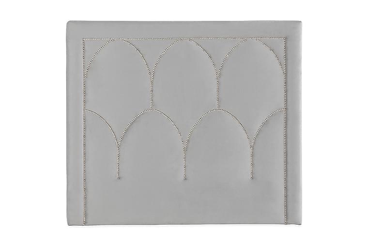 ROMBISE Sänggavel 120 cm Ljusgrå/Sammet - Möbler - Sovrum - Sänggavlar