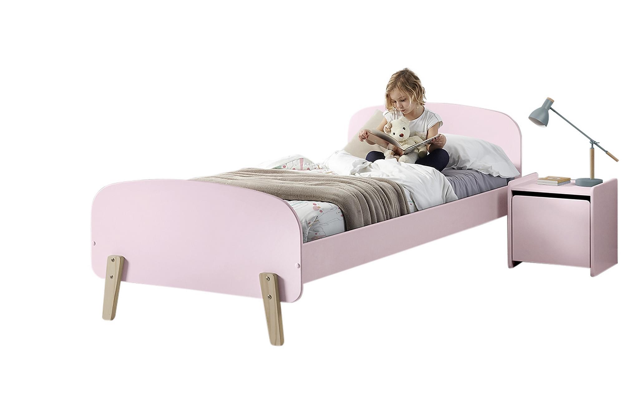 HIPSTOP Sängram Sängbord Rosa, Möbelset för sovrum