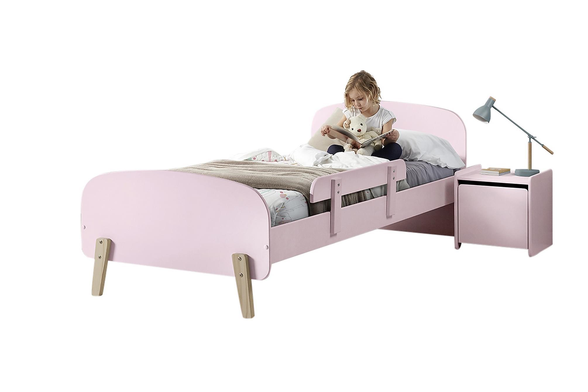 HIPSTOP Sängram Sängbord Säkerhetsbräda Rosa, Möbelset för sovrum