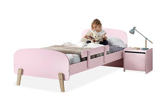 HIPSTOP Sängram Sängbord Vägghyllor Rosa - Möbler & Inredning - Möbelset - Möbelset för sovrum