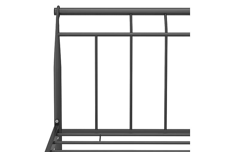 Sängram svart metall 120x200 cm - Svart - Möbler & Inredning - Sängar - Sängram & sängstomme