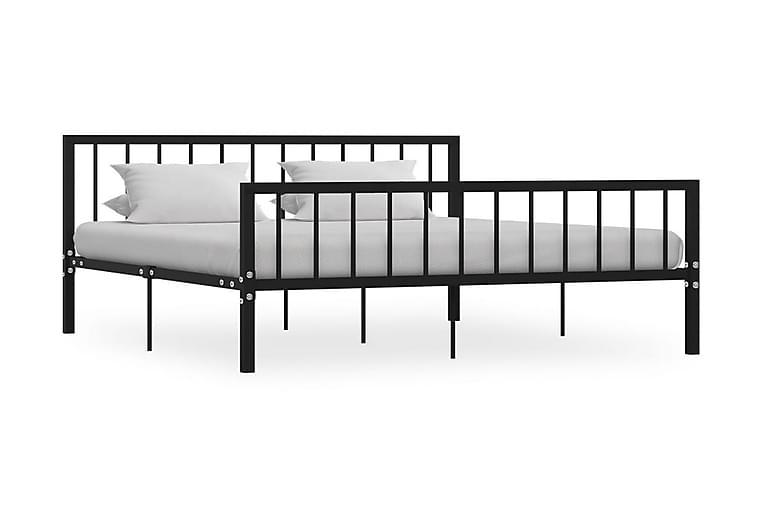 Sängram svart metall 180x200 cm - Svart - Möbler & Inredning - Sängar - Sängram & sängstomme