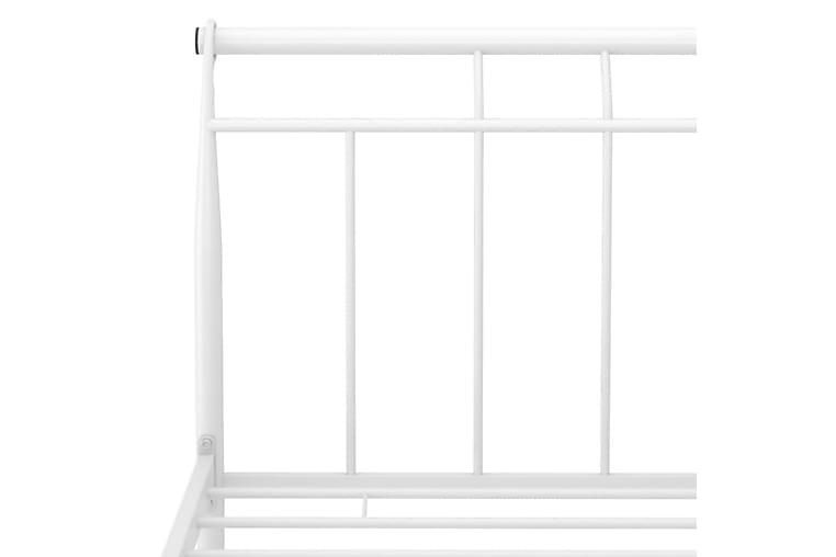 Sängram vit metall 120x200 cm - Vit - Möbler & Inredning - Sängar - Sängram & sängstomme