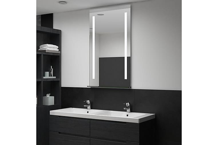 Badrumsspegel LED med hylla 60x100 cm - Silver - Möbler & Inredning - Inredning - Speglar