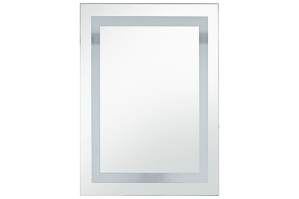 Badrumsspegel LED med touch-sensor 60x100 cm - Silver - Möbler & Inredning - Inredning - Speglar