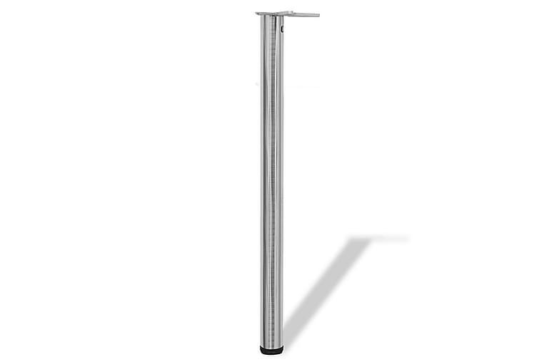 4 Justerbara bordsben i borstad nickel 870 mm - Silver - Möbler & Inredning - Bord - Bordsben & tillbehör