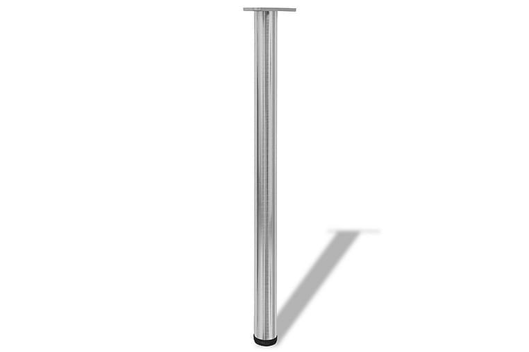 4 Justerbara raka bordsben i borstad nickel 870 mm - Silver - Möbler & Inredning - Bord - Bordsben & tillbehör