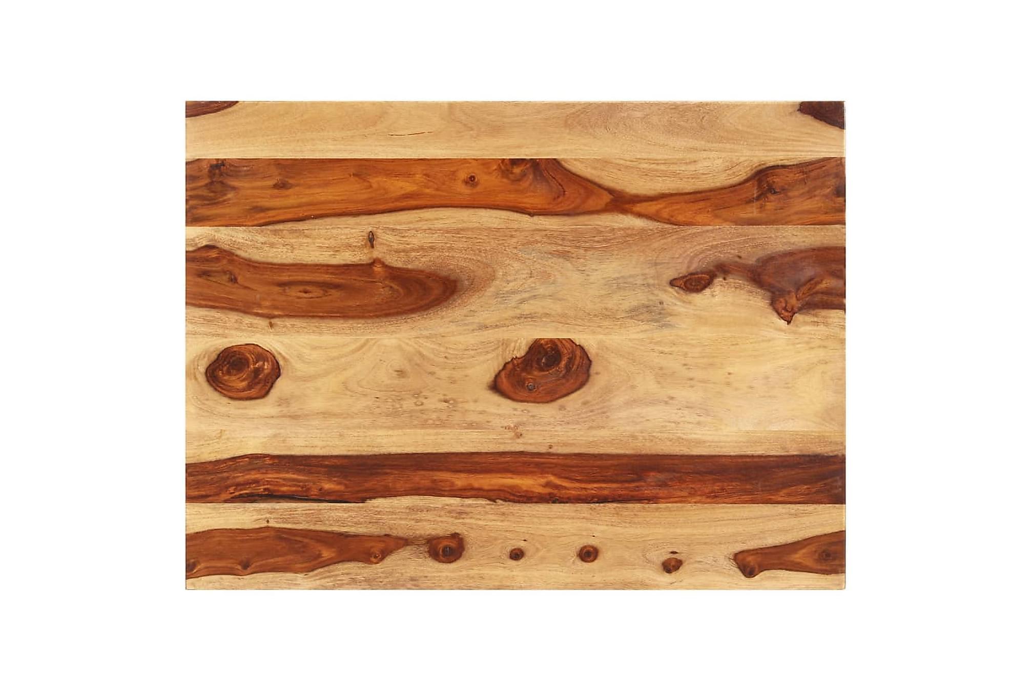Bordsskiva i massivt sheshamträ 15-16 mm 70x90 cm, Bord
