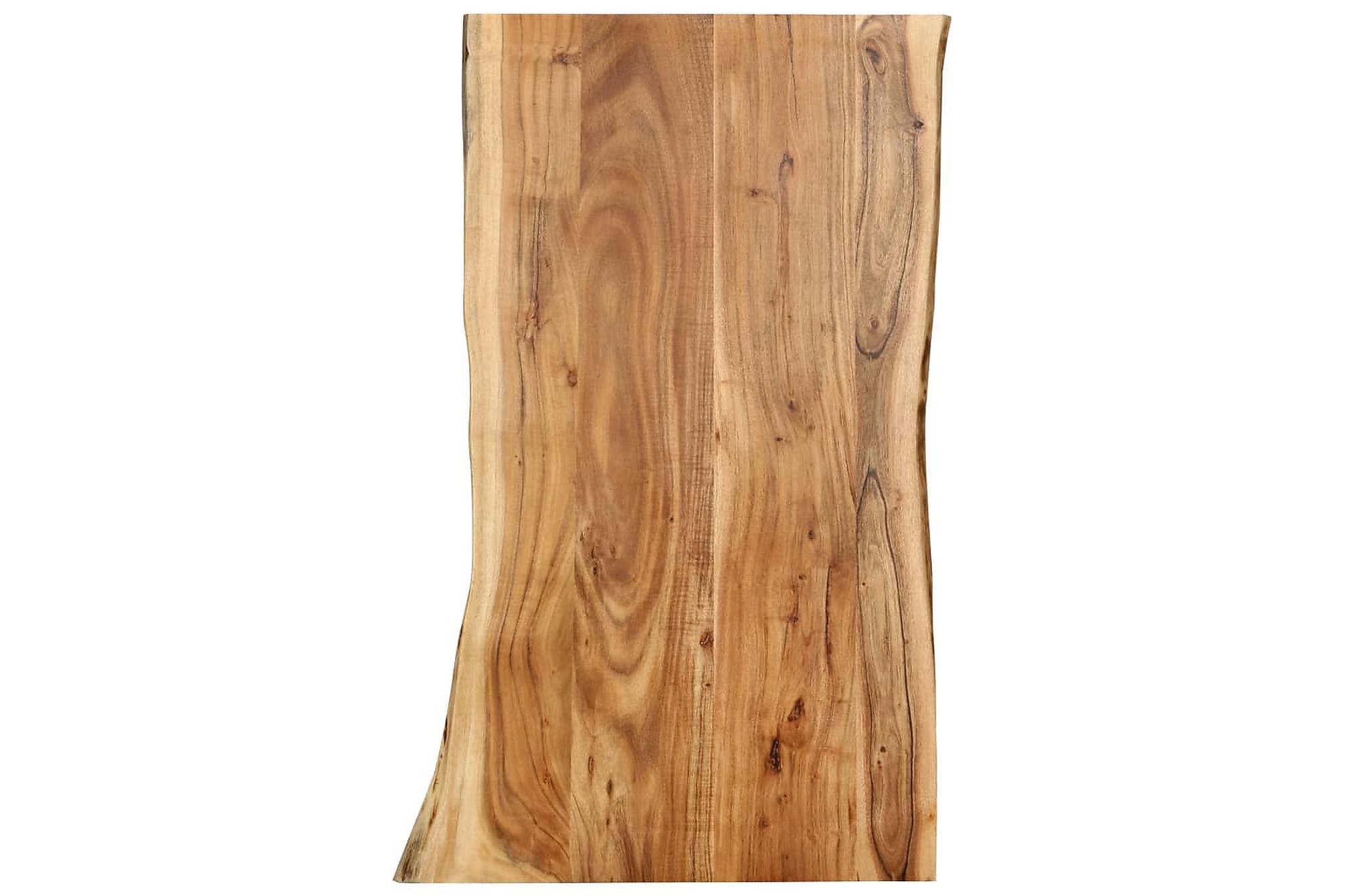 Bordsskiva massivt akaciaträ 100x60x2,5 cm, Bordsben & tillbehör