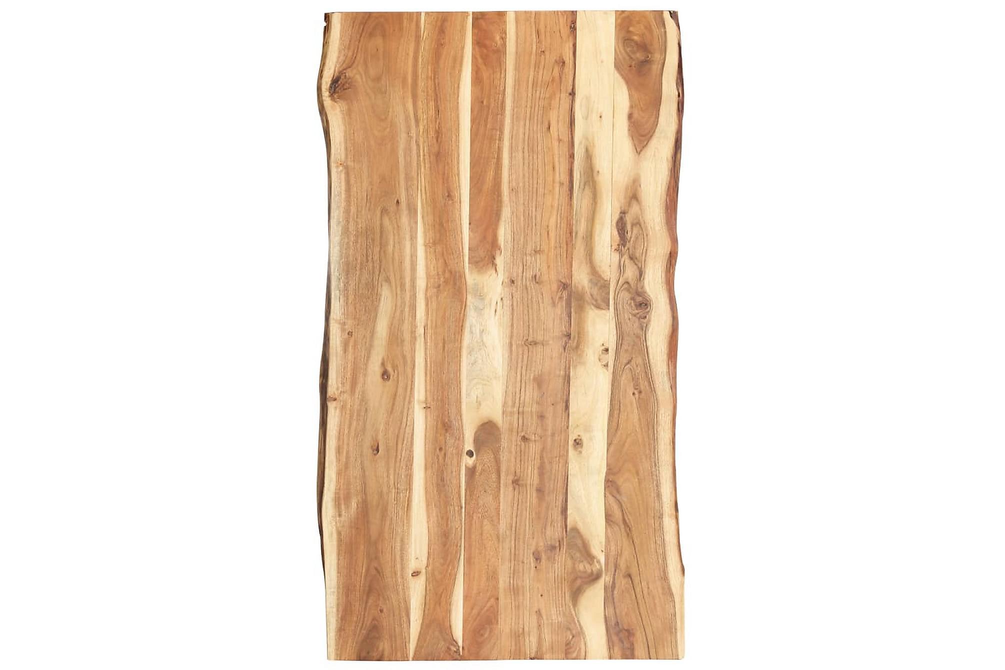 Bordsskiva massivt akaciaträ 120x60x3,8 cm, Bordsben & tillbehör